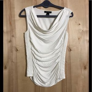 White House Black Market Draped and Ruched Top